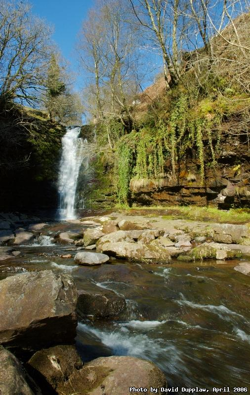 Large Waterfall at Blaen-y-Glyn