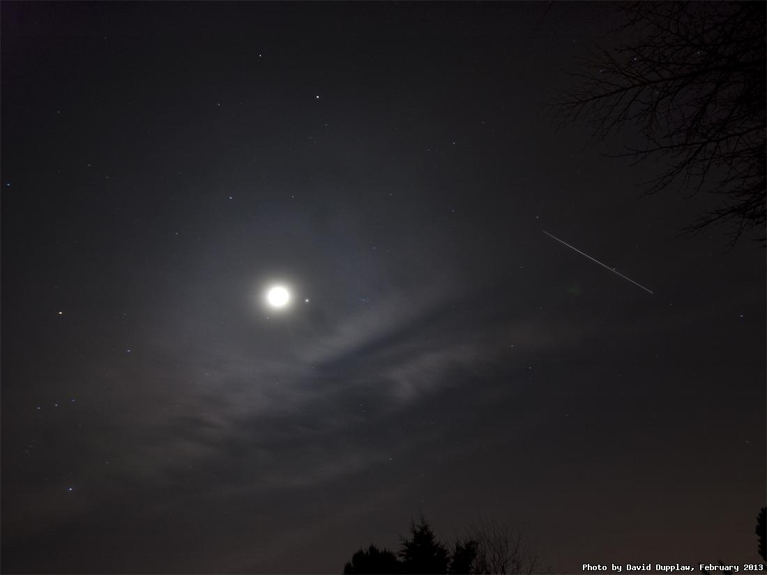 ISS, Moon and Jupiter